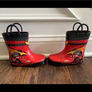 Disney Cars Toddler Rain Boots Brand New No Tags